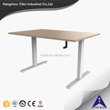 2 legs handle height adjustable office desk