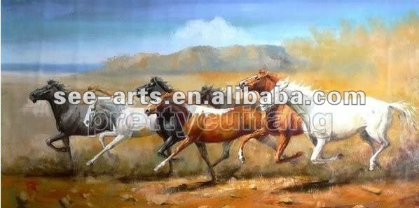 eight horse running oil painting on canvas art SJC-083
