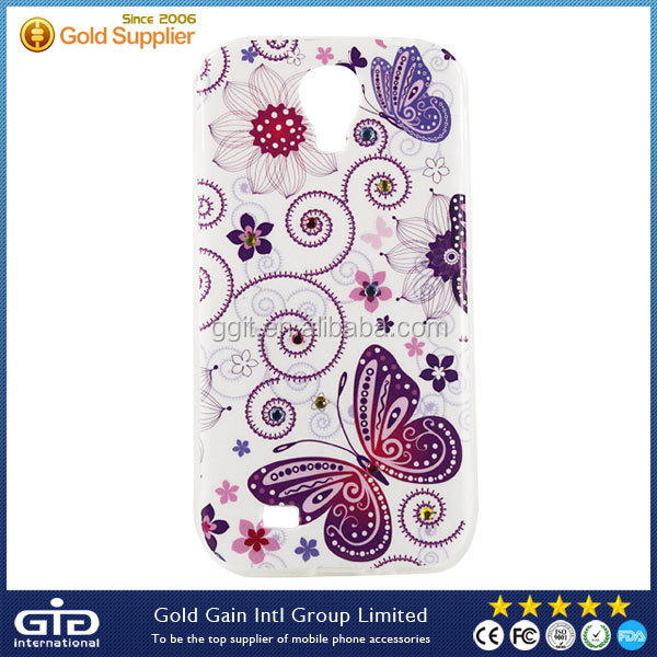 OEM IMD TPU Case for Samsung S4 i9500 with Diamond in Wholesale Price