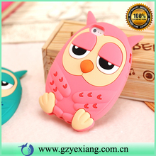 Hot 3D Cute Cartoon Rubber Silicon Phone Case For Samsung Galaxy S6 Rubber Cover