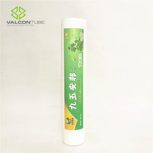 plastic empty toothpaste tube with screw cap