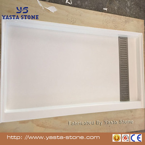 White Cultured Marble Shower Base Shower Trays Shower Pan