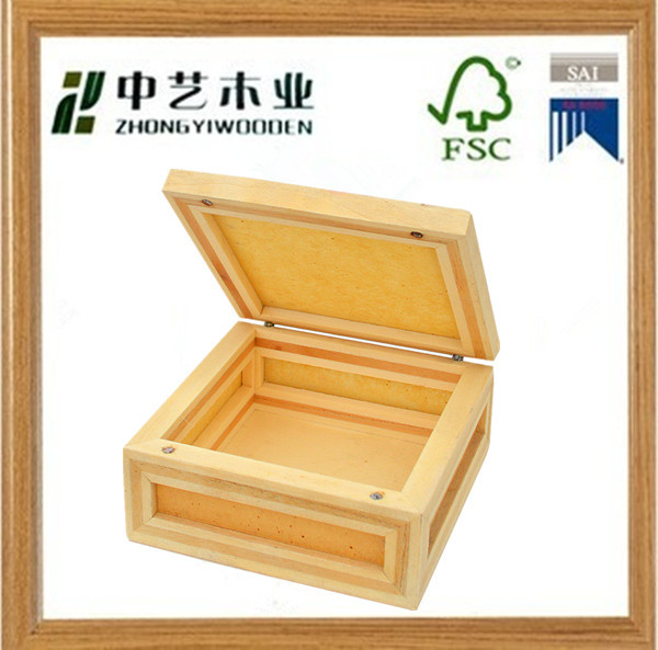 custom factory wholesale decorative hexagon unfinished natural wood wooden strawberry box