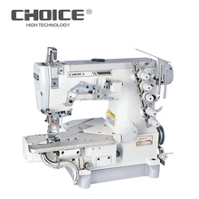 Cylinder Bed Left Cutter Interlock AutoIndustrial Sewing Machine With Suction Device For Shirt Bottom Hemming Pegasus GC664-35BB