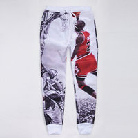 2015 new fashion men/women's sport jogging pants 3D print Jordan skinny sweatpants basketball running joggers trousers