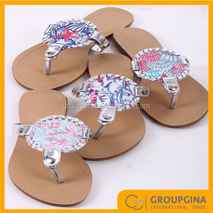 New Arrival Inspired Monogrammed Lilly Disc Sandals