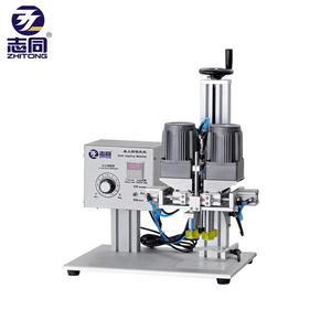 Semi automatic pneumatic cap screwing bottle rotary screw capping machine for plastic caps