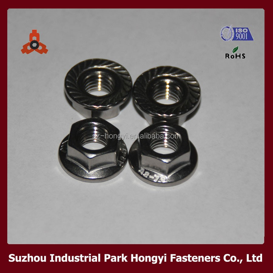 high quality m15 bolt and nut m10 nut flange nut dimension