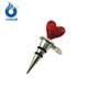 Superior Quality Metal Heart Shaped Wine Bottle Stopper wtih Crystals for Wedding Gifts