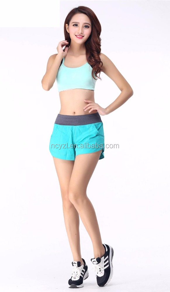 Wholesale women pink sexy sports short pants ladies loose pants