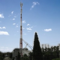 base station BTS communication monopole tower