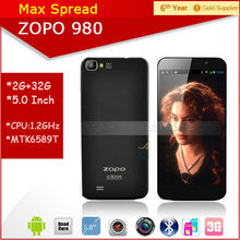 "Instock!! ZOPO 980 5.0"" FHD screen Android 4.2 mtk6589 quad core 1.5GHz Dual camare Dual sim ZP 980 Smartphone"