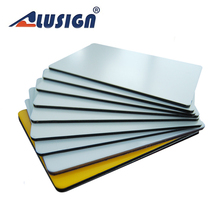 Alusign aluminium composite plastic panel with 4mm 3mm 5mm thick pe coated dibond aluminum plastic composite panel 5mm