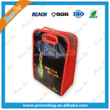 Good Quality PP Woven Cooler Bag With Plastic Handle