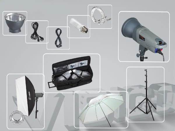 Photography Accessories including softbox, light stand etc