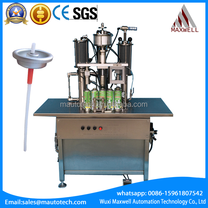 Body spray aerosol can filling machine/aerosol can filling machine