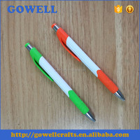 Plastic promotional gift ballpoint pen with custom logo printing