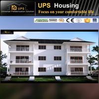 low cost fast and easy installation three floor certificated prefab apartment