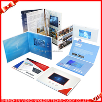 Cheap 7 inch LCD video brochure with 7 inch screen