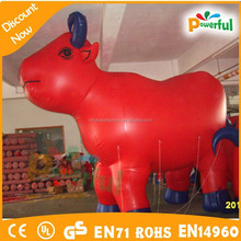 New inflatable red bull, inflatable bull model