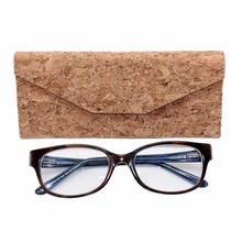 Foldable Natural Cork Fabric Sunglasses Case Eyeglasses Case