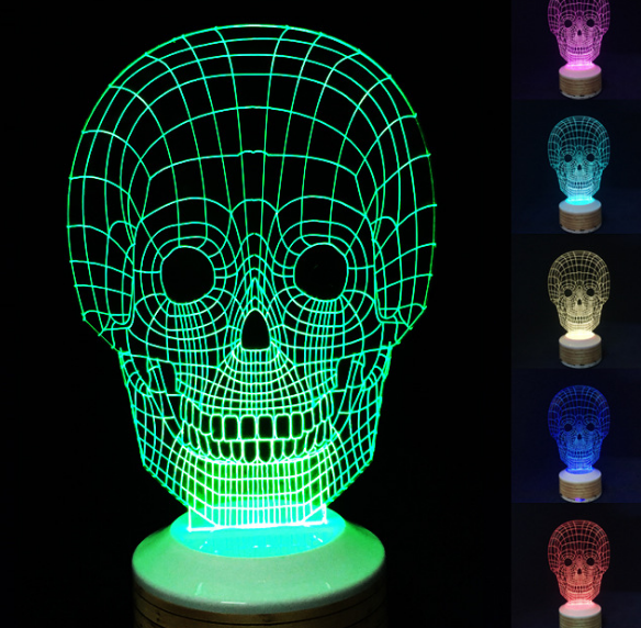 Removable Kids Room LED lamp 7 Colors Amazing 3D Glow LED Lamp