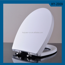 HY-2009 Duroplast Urea UF 2 button soft closed quick release stainless steel round stickers toilet seats