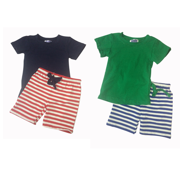 Wholesale cheap shirt and shorts for children baby boutique clothes kids boys clothing summer boys set boys shirt and tie sets