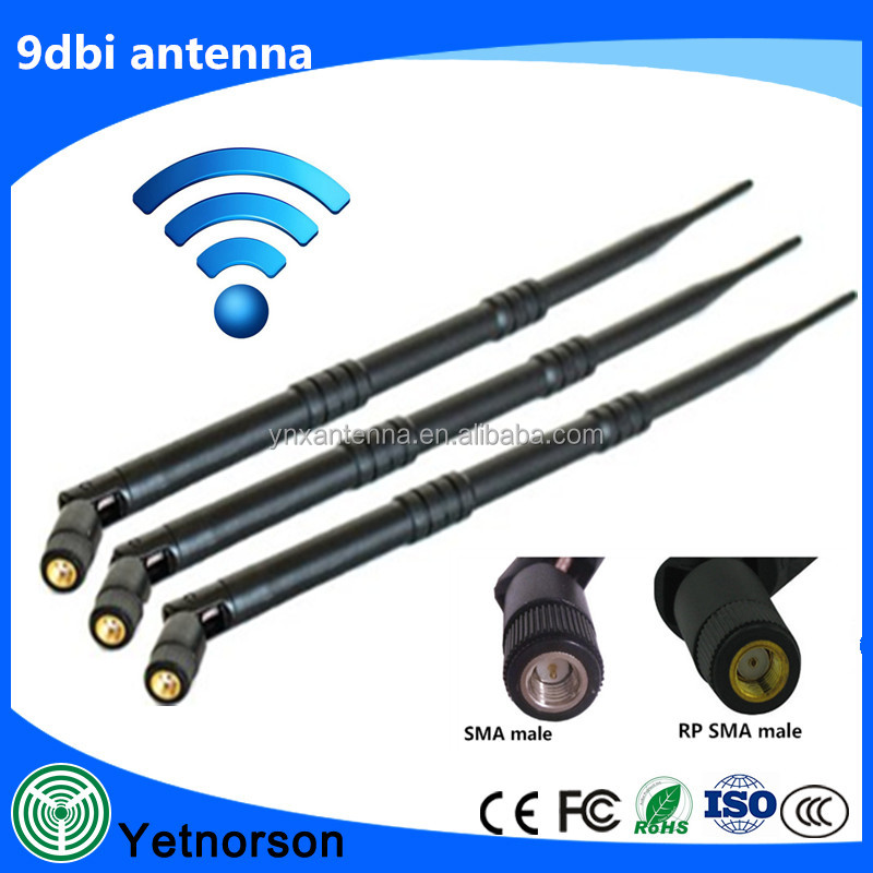 High performance 9dBi Omni antenna for router huawei 4g with RP-SMA Connector for Wireless Network Router