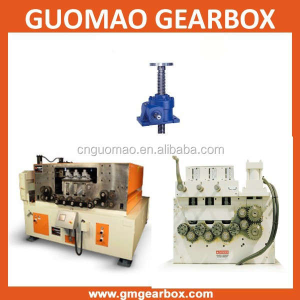 For steel feeder straightener electric or manual worm gear transmission screw jacks