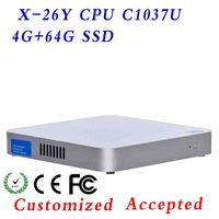 vertical aluminum siding ,pc case atx ,Fanless industrial box PC Emission Low Hot selling!low voltage CPUs!