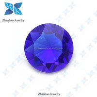 supply round brilliant cut glass stone sapphire blue raw material