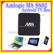 Best android smart tv box Amlogic S802/s812 m8 M8C RJ45 Google Set Top Box