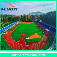 Sport facility Sandwich Running Track Polyurethane Sports Surfaces EPDM Granules/SBR Athletic Track by Hand Work