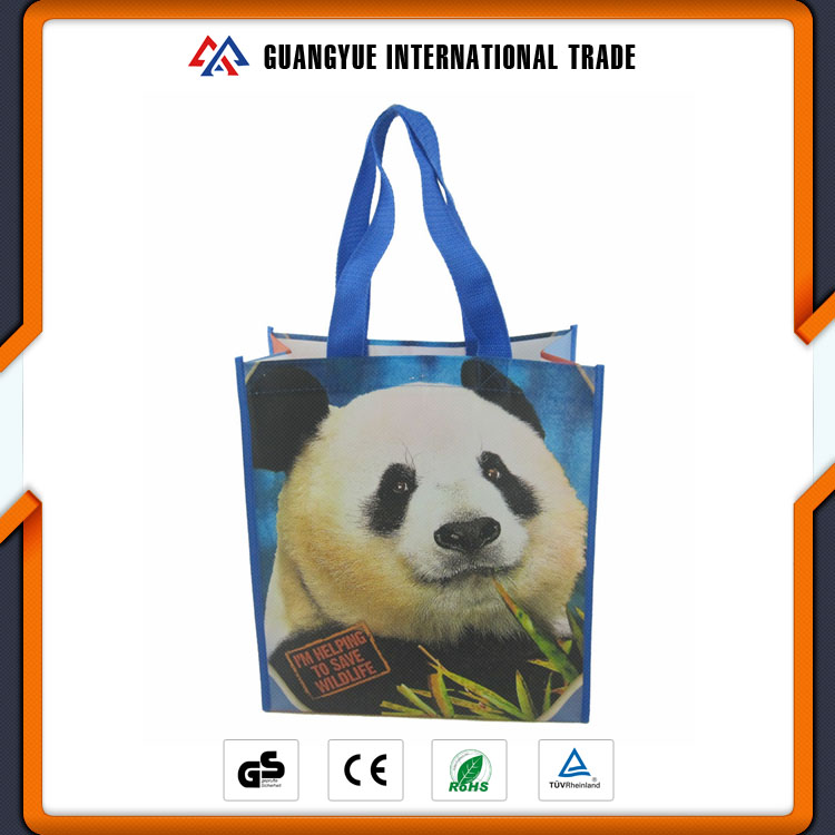 Guangyue Manufactured Products Custom Printing Cartoon Handle Non Woven Pp Laminated Bag