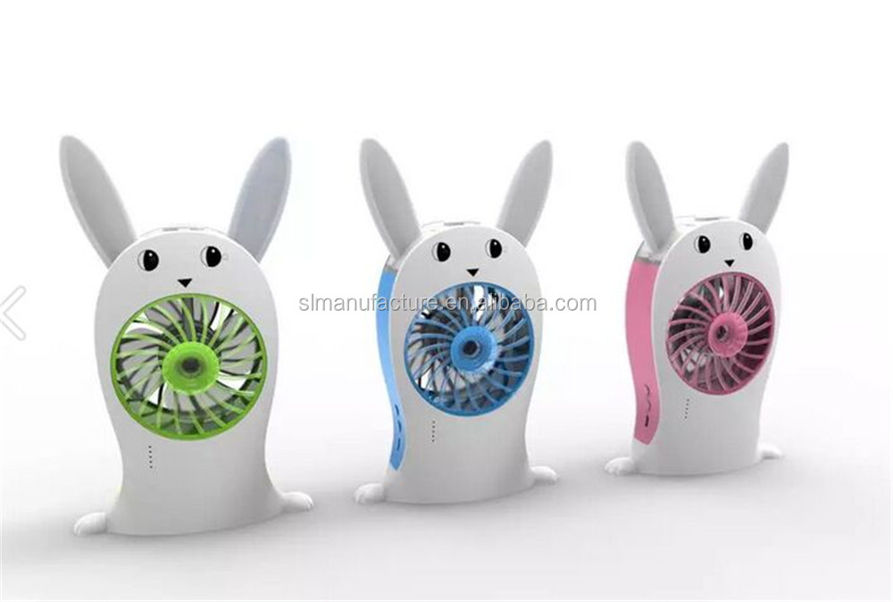 Portable USB rechargeable fan with ultrasonic humidifier mist maker mini electric air cooling fan