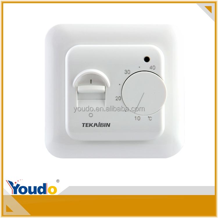 raumthermostat f r fu bodenheizung yueqing youdo 16a 220v ce rtc70 regelbarer thermostat. Black Bedroom Furniture Sets. Home Design Ideas