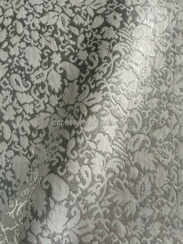 polyester shiny metallic fabric for curtain
