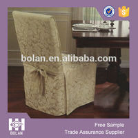 Hot sales dining room polyester jacquard Chair cover