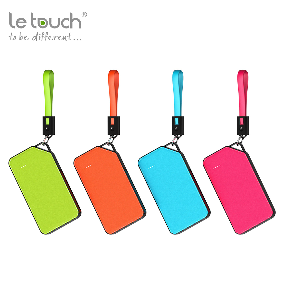 Trade assurance mobile phone emergency high capacity 8000mAh keychain portable charger with 4 led lights indicator