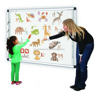 "82"" Movable Interactive White Board Electronic Training Whiteboard With Stand"