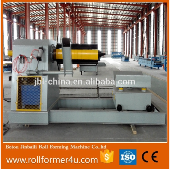 best quality and popular automatic coil Hydraulic cutter decoiler uncoiler with car