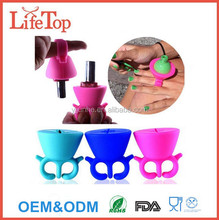 Creative Design Anti-Spill Nail Polish Bottle Holder Ring