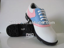 Superior PU Leather Nice Looking Lady Rubber Golf Shoes