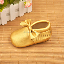 New gold pink blue soft PU Leather Baby Moccasins soft bottom child freshly picked First Walkers fringe toddler shoes girls boys
