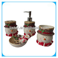 2014 New desgin christmas bathroom accessory & bathroom sets