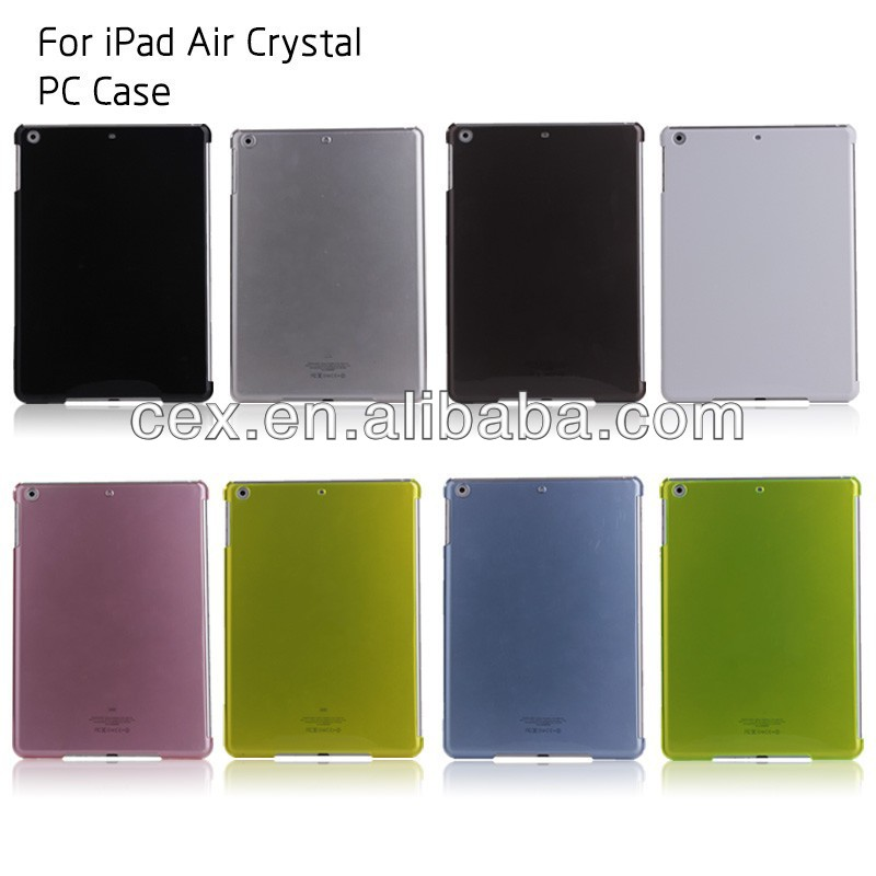 For iPad Air iPad 5 Transparent Crystal Clear Slim Hard Back Case Compatible With Smart Cover