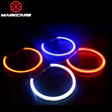 Markcars 4.7W 131 Semi circle single color car smd cob rgb ccfl led angel eye