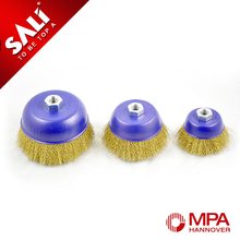 10 years factory supply 14X2 Wire cup brush, twisted wire cup brush, polishing steel wire brush