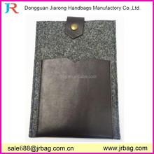 Designer felt tablet case with phone pocket